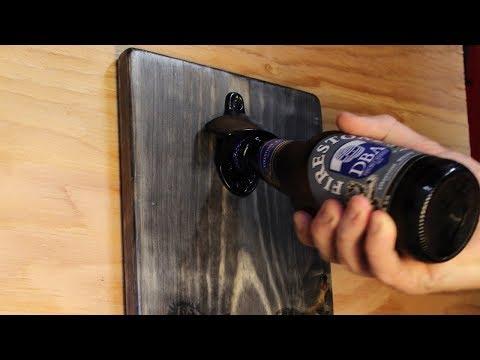 DIY Wall-Mount Bottle Opener