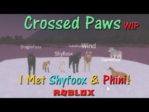 Roblox - Crossed Paws WIP - I Met Shyfoox & Phini! - HD