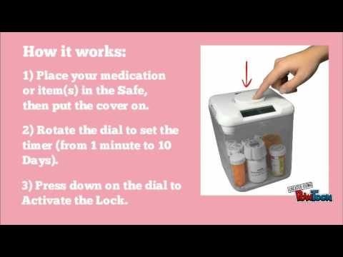 Tamper Resistant Kitchen Pill Safe from e-pill Medication Reminders