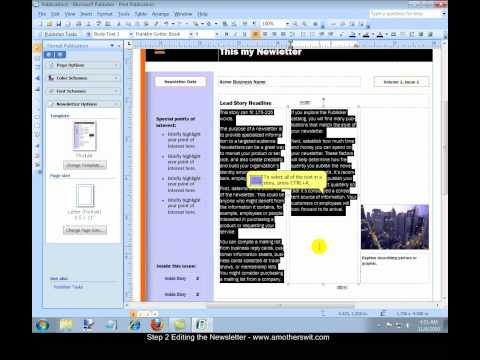 How to Create a Newsletter with Microsoft Office Publisher 2007 Video