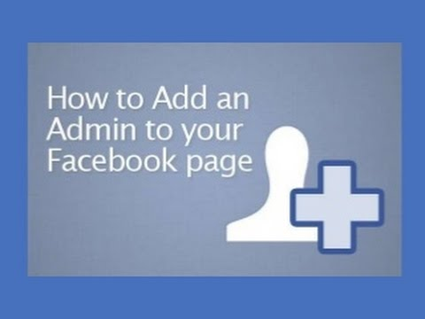how to add admin of Facebook page