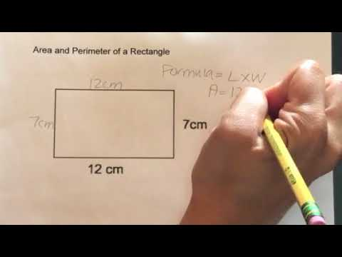 How to find the Area and Perimeter of a Rectangle