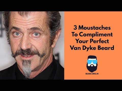 3 Moustaches For The Perfect Van Dyke Look
