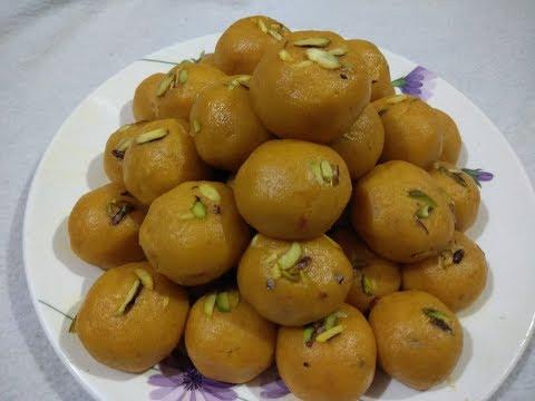 Besan mawa(khoya) ladoo or pinnii in hindi
