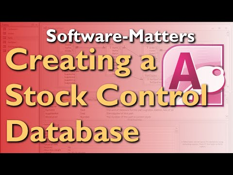 How to Create a Stock Management Database in Microsoft Access - Full Tutorial with Free Download