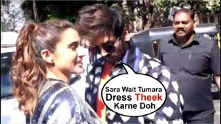 Kartik Aryaan FIXING Girlfriend Sara Ali Khan's DRESS In Front Of PUBLIC At Love Aaj Kal 2 Trailer