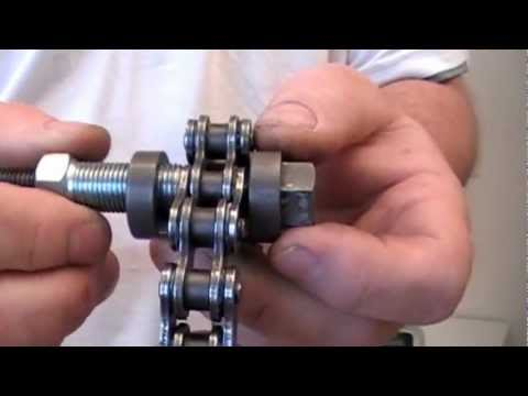 Terra x chainbreaker flaring a motorcycle chain rivet link