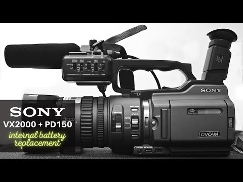 Sony VX2000/PD150 - internal battery replacement
