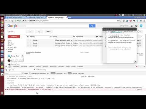 javascript trick - auto click gmail compose button, create and dispatchEvent