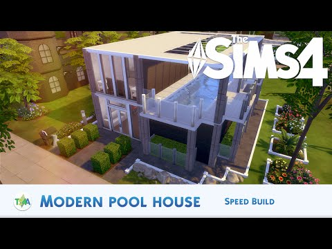 The Sims 4 | MODERN POOL HOUSE - SPEED BUILD