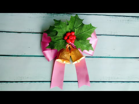 ABC TV | How To Make Christmas Bells From Crepe Paper - Craft Tutorial