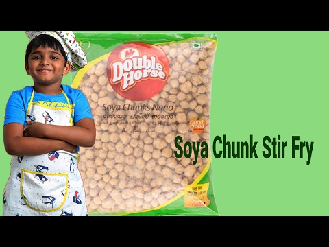 How to Make Soya Chunks Fry Recipe | Soya bean by Little Chef Kicha