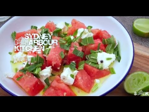 How to make Watermelon, Feta & Mint Salad - Sydney Harbour Kitchen Ep 7