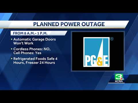 Planned power outage today in Rocklin