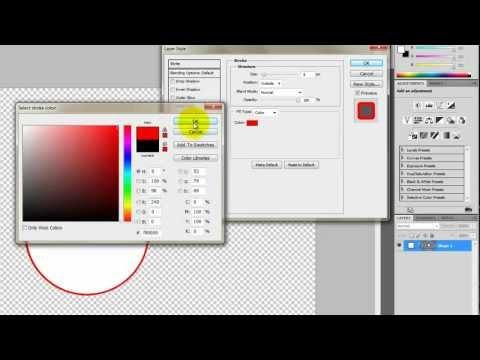Photoshop CS5 Transparent Circle Tutorial