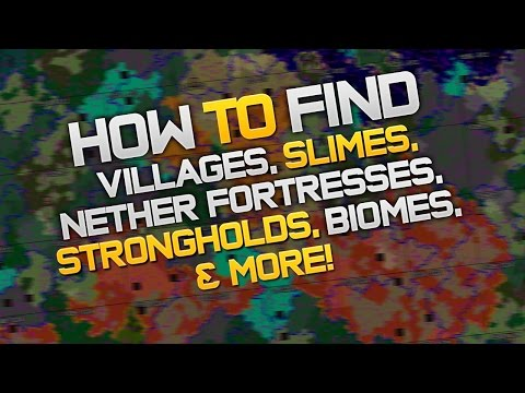 How To Find Villages, Slimes, Nether Fortresses, Strongholds, Biomes, In Minecraft (1.8.8)