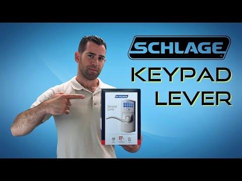 Best Selling Schlage Keypad Entry Lever FE595 - Installation & Programming