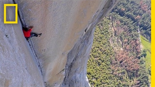 see first video of most dangerous ropefree climb ever alex honnold national geographic