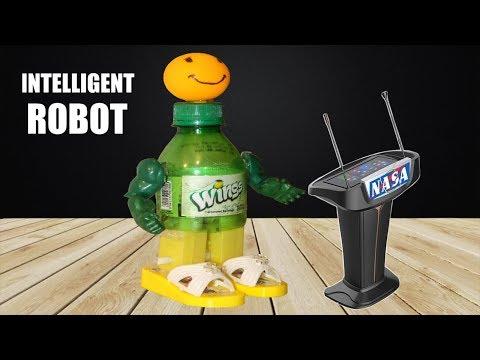 How to make artificial human intelligent Robot like Sophia - Using Plastic Bottle