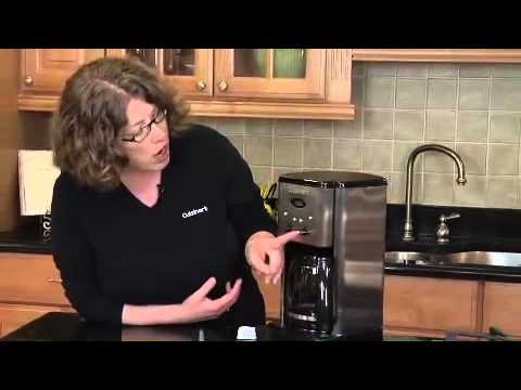Cuisinart Brew Control 12-Cup Programmable Coffeemaker (DCC-1200) Demo Video