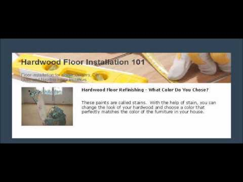 Hardwood Floor Refinishing -- What Color Do You Chose?