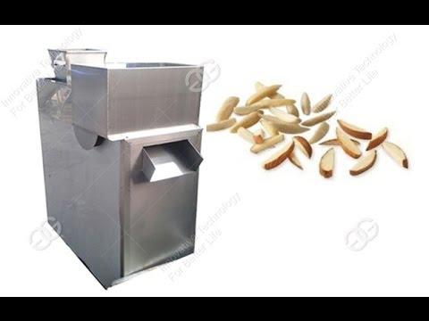 Peanut Almond Badam Strip Cutting Machine/Automatic Peanut Almond Slivering machine