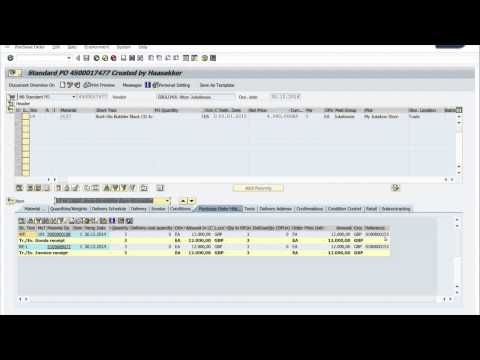 Display Purchase Order History