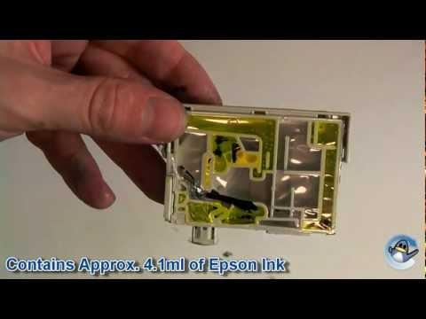 Inside Epson T1284 Yellow (Fox) Ink Cartridge