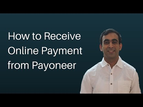 How to receive online payments from Payoneer