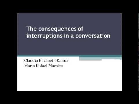 Interruptions in conversations - discourse analysis