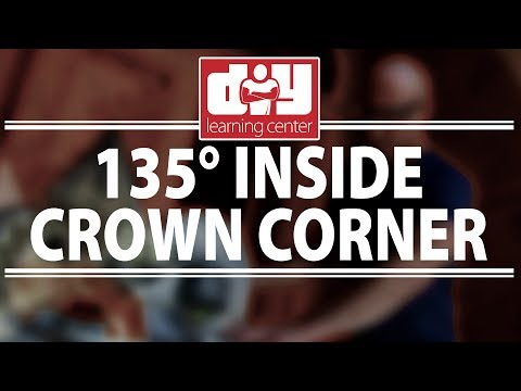 How to cut an inside 135 degree crown molding corner