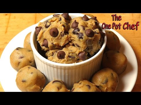 Edible Chocolate Chip Cookie Dough | One Pot Chef