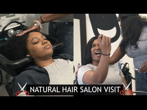 Come With Me: Natural Hair Salon Vlog