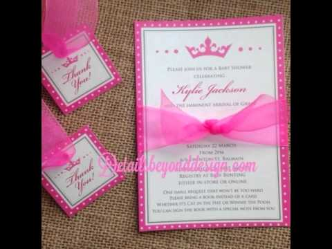 Princess Themed Quince Invitations