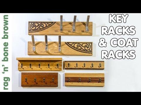 Making Key Racks & Hat & Coat Racks - Scrap Wood Project