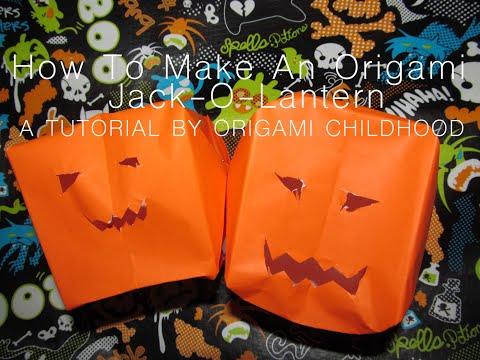 How to Make an Origami Jack-O'-Lantern
