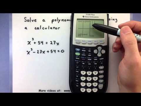 Pre-Calculus - How to solve a polynomial equation using a calculator (Ti-83/84)
