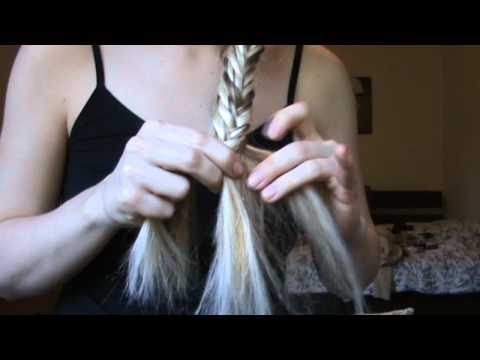 HOW TO: Fishtail side plait hairstyle