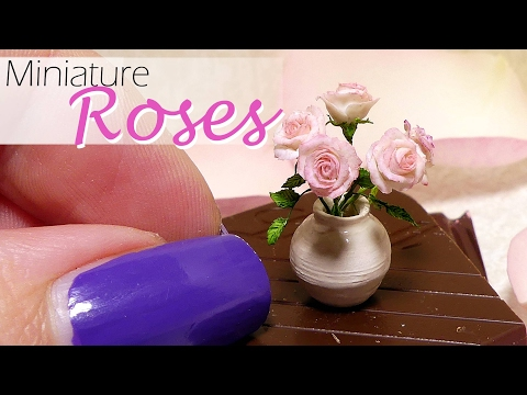 Miniature Rose Tutorial // DIY Dollhouse Roses // SugarCharmShop