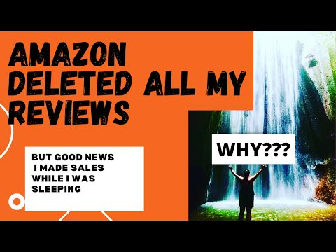 AMAZON REMOVED ALL MY REVIEWS😳  WAKING UP TO SALES=Awesome !!     WAKING TO ZERO REVIEWS =BAD