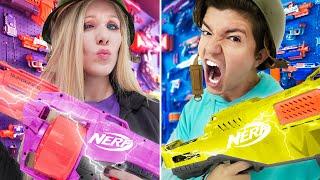 Ultimate NERF Bunker Challenge! (Boy vs Girl)