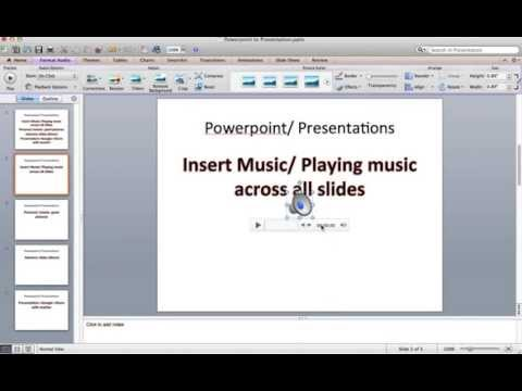 Powerpoint- How to insert music & play music across all slides