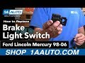 How To Install Replace Brake Light Switch Ford Lincoln Mercury 98-06 1AAuto.com