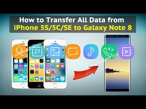 How to Transfer All Data from iPhone 5S / 5C / SE to Galaxy Note 8