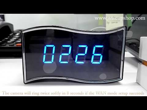 WISEUP HD WIFI Clock Camera Operation Instruction And Footage (Model Number: WIFI26)