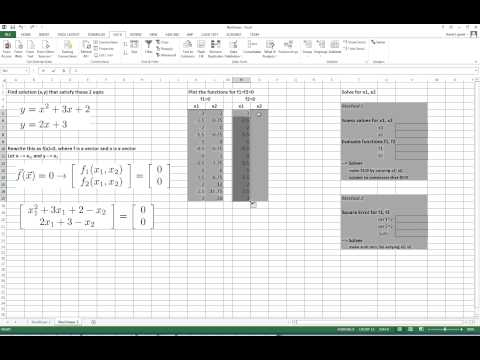 Excel solve nonlinear equations