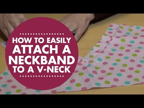 How to easily attach a neckband to a V-neck with Simplicity Creative Group