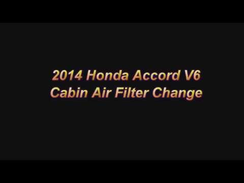 2014 Honda Accord Cabin Air Filter Replacement