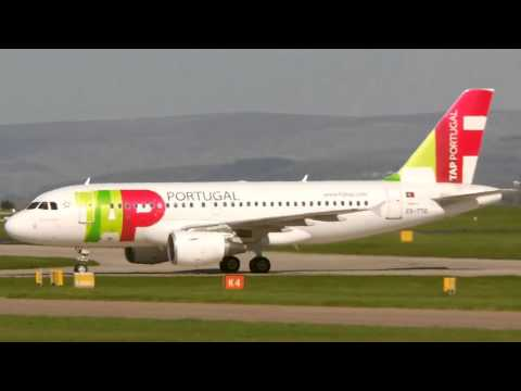 TAP Portugal Airbus A319-111 at Manchester International Airport