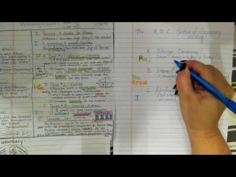 Pre-AP World Summary Writing Tutorial: Athens Cornell Notes